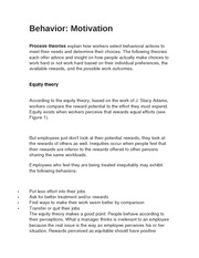 Behavior-Motivation notes