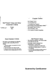 Chapter 9- Net Present Value and Other Investment Criteria