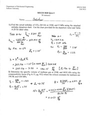 MECH 3020 Fall 2013 Quiz 1 Solution