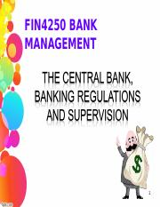 Central Bank, Regulation and Supervision