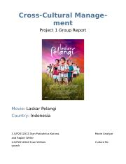 Cross-cultural project report