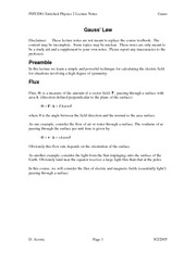 PHY2061 - Enriched Physics 2 Lecture Notes GaussLaw