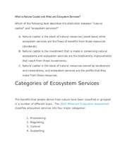 Stanford NCP-101 What is Natural Capital and What are Ecosystem Services?