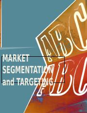 Chapter 5. Market Segmentation (1)