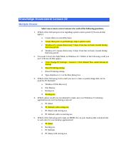 NOS 130-Lesson 22 Knowledge Assessment