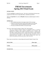 FBE441_Spring13_FinalExam_Solutions