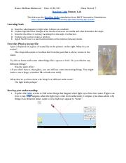 Experiment 6 - Bending Light.docx - Bending Light Remote ...