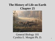 Chapter 25 PP The History of Life on Earth