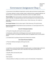 Government Assignment Chap 1