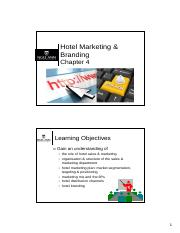 Ch04 - Hotel Marketing & Branding