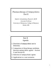 Pharmacotherapy of Antipsychotics 2