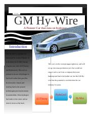 Ecology Project - GM Hy-Wire