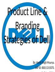 Product Line & Branding Strategies of Dell.pptx