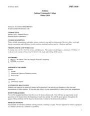 HW_Phy1610_winter2014 Syllabus