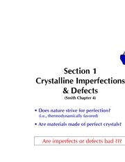 Section 1D Imperfections