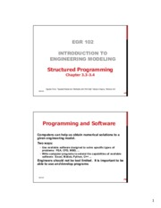 Lecture 07 Structured Programming