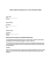 Examples of Deductively Valid Argument Forms