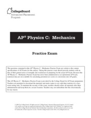 practice exam physics cmechanics