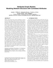 Attributed Graph Models- Modeling Network Structure with Correlated Attributes.pdf