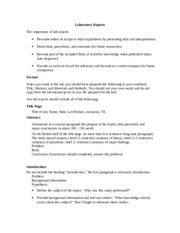 How to write a Laboratory Report 8609