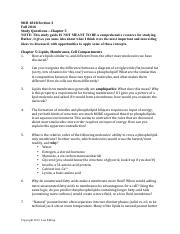 Study Guide Chapter 5