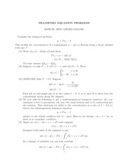 Transport Equation Problems