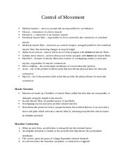 Ch. 8 - Control of Movement.docx