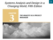 Chapter 3- The Analyst as a Project Manager
