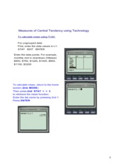 Central Tendency using technology