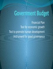 5 Fiscal Policy - Government-Budget