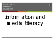 EDUCATION 50: Information & Media Literacy Lecture (Jenner)
