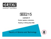 Lecture_04 - Pointer registers, indirection, Reading & writing data RAM