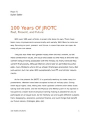 Essay Example On The Topic Of JROTC And Its Influence