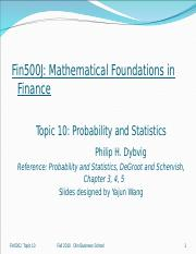 Fin500J_topic10_Probability_2010.ppt