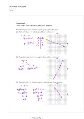 1.4 Linear Functions