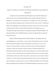 response paper philosophy chapter could a machine  5 pages response paper 4