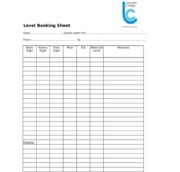 Assignment 1 booking sheet