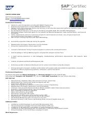 Vinoth Kumar Ravi - SAP Profile docx - VINOTH KUMAR R SAP