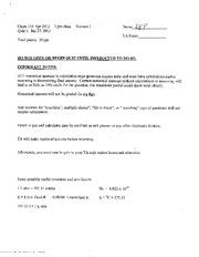CHEM 114 - Quiz 1 Answer Key