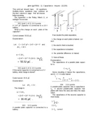 Capacitance-solutions