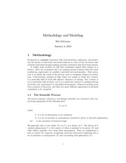 Econ 6500 Methodology and Modeling Notes