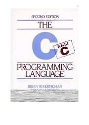 The C Programming Language- K&R