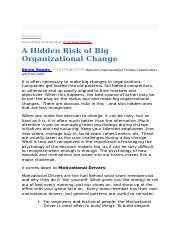 A Hidden Risk of Big Organizational Change.docx