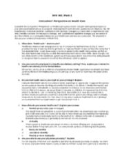 HCS 310 Week 1 Individual Assignment - Consumers Perspective Health Care Questionnaire