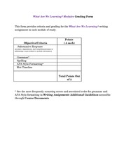 What Are We Learning Modules Grading Form(2)
