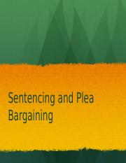 Week 9- Sentencing and Plea bargains 2 50 min