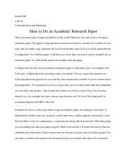 Daniel Bell Communication and Marketing Academic Paper.docx