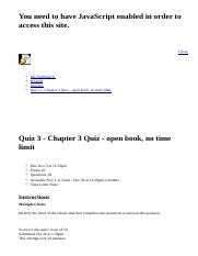 Quiz 3 - Chapter 3 Quiz - open book, no time limit: BAD10: American Business in Its Global Context: