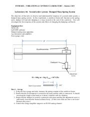 Laboratory #6 - Second order system - damped mass-spring system