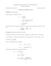 Physics 8.044 Pset 9 Solutions